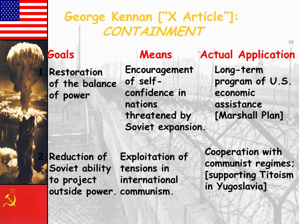 George Kennan [ X Article ]: CONTAINMENT